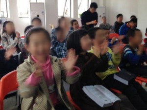 Chinese Students Clapping